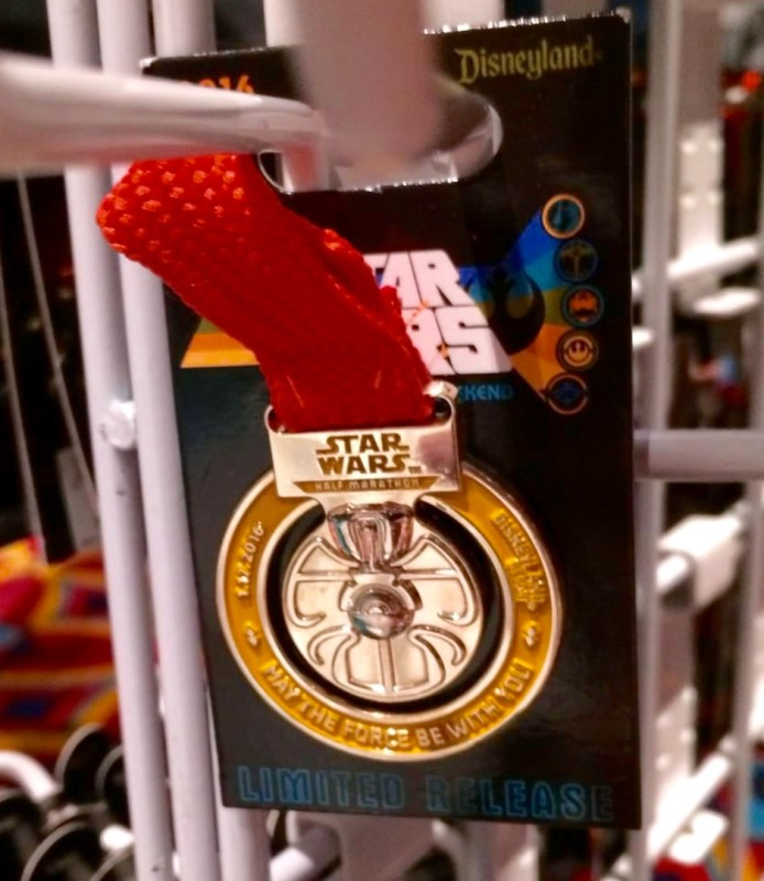 Star Wars Half Marathon Weekend Medal Pin 2016