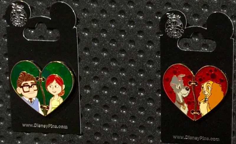 Up - Lady and the Tramp Heart Pins 2016
