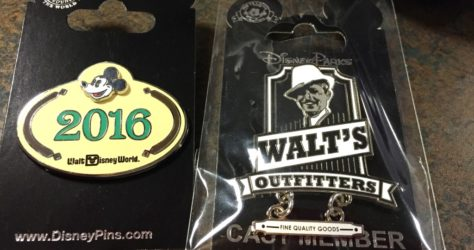 Walt's Outfitters and 2016 Cast Member Pins