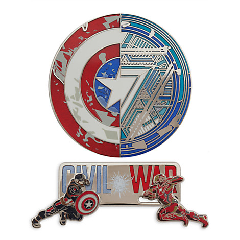 Captain America Civil War Disney Store Pins