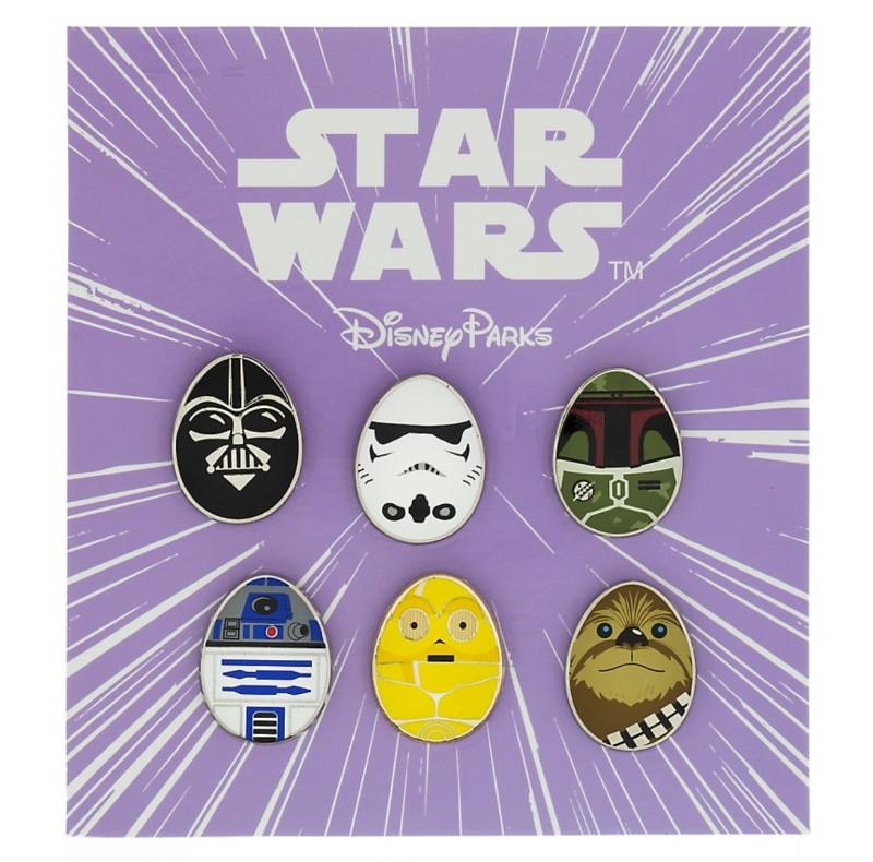 Star Wars Characters Mini Egg Pin Set