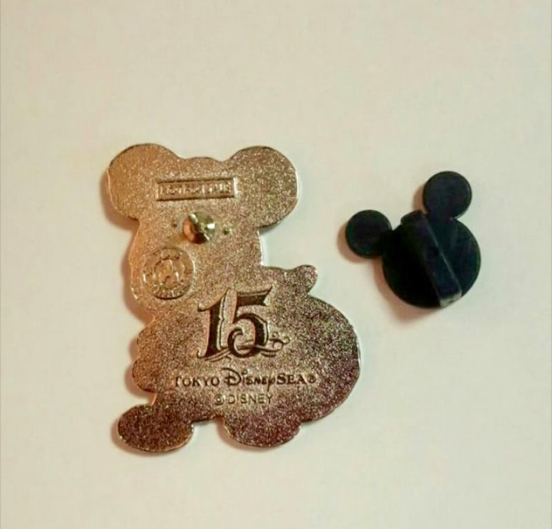 Back of DisneySea 15th Game Pins