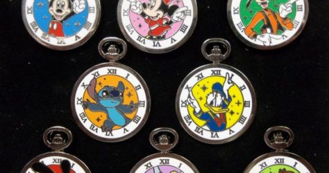 Disney Pocket Watch Pin Set
