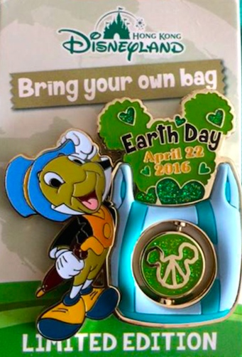 Earth Day 2016 Pin - Hong Kong Disneyland