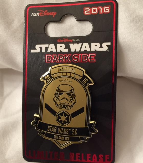 Star Wars 5k Dark Side Pin