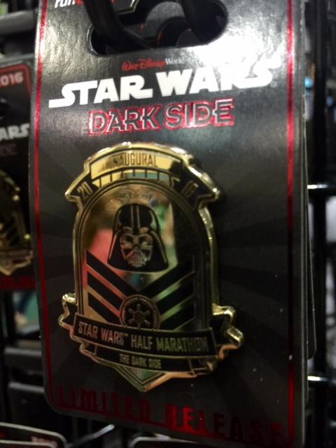 Star Wars Dark Side Half Marathon 2016 Pin