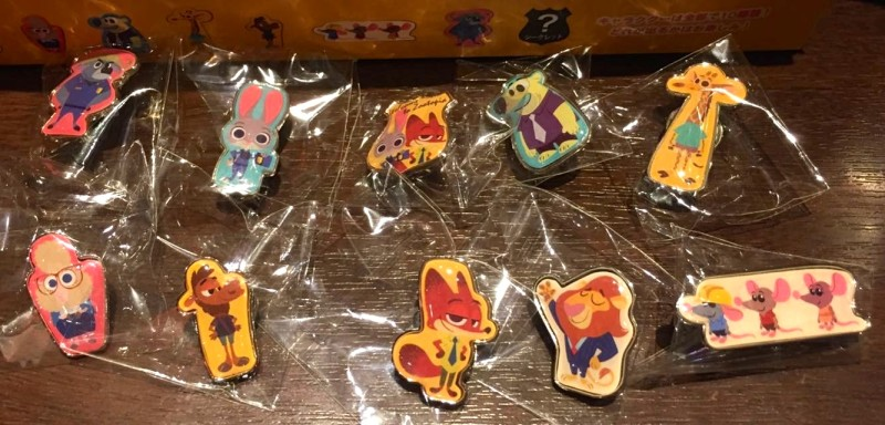 Tokyo Disney Store Zootopia Pin Set