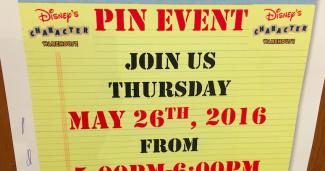 Disney's Character Warehouse May 2016 Pin Event