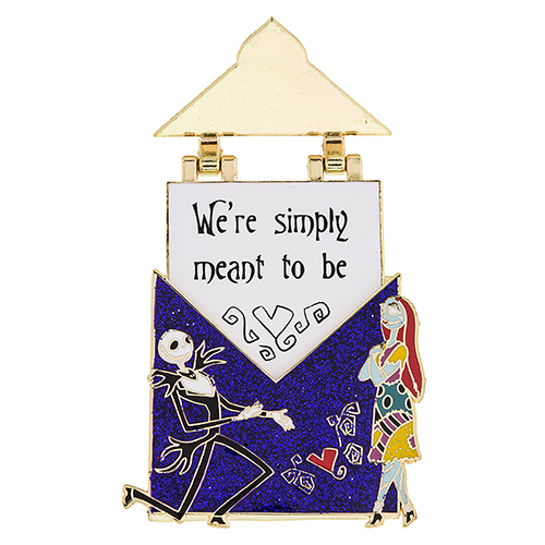 Jack Skellington and Sally Love Letter Pin