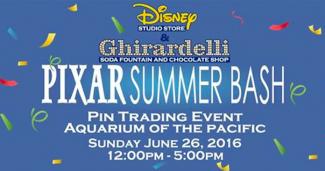 Pixar Summer Bash Pin Trading Event