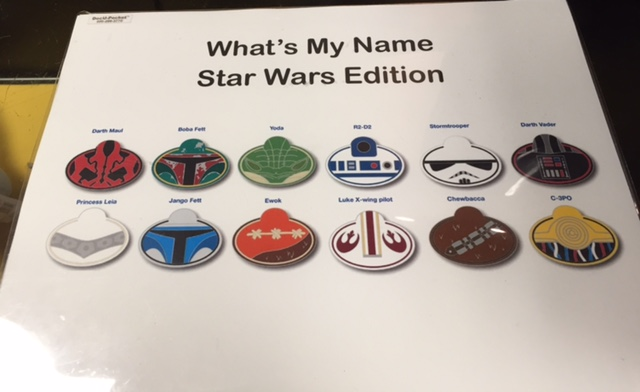 What's My Name Star Wars Pin Collection