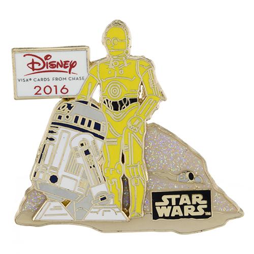 Disney Visa Cardmember C3PO & R2D2 Pin