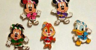 Tokyo Disneyland Game Pins 2016
