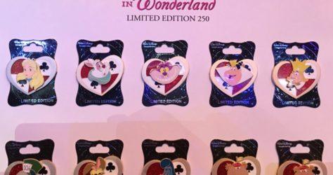 Alice in Wonderland Heart Pins