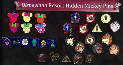 Disneyland Hidden Mickey Pins 2016