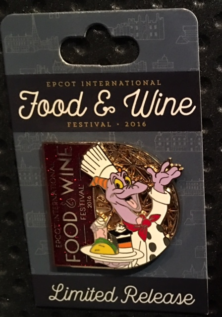 Epcot Food & Wine Pin 2016