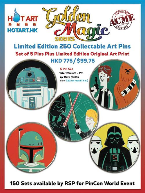 LE 250 ACME Star Wars IV - VI Pins
