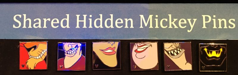Shared Hidden Mickey Pins 2016