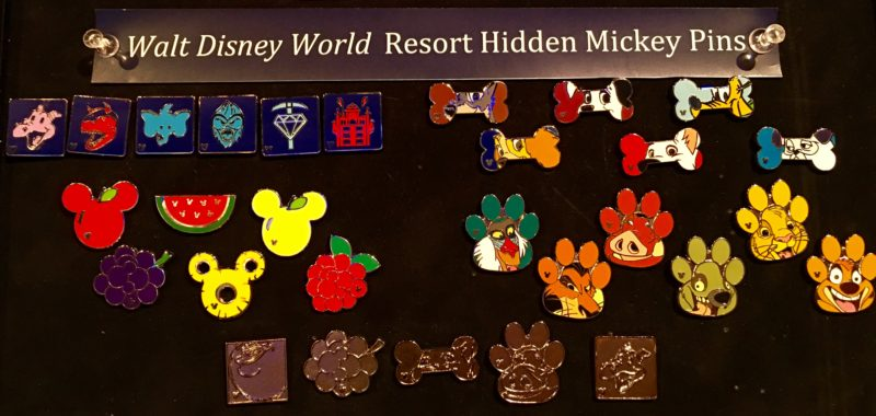 Walt Disney World Hidden Mickey Pins 2016
