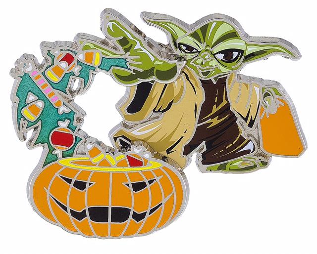 Yoda & Pumpkin Halloween Pin