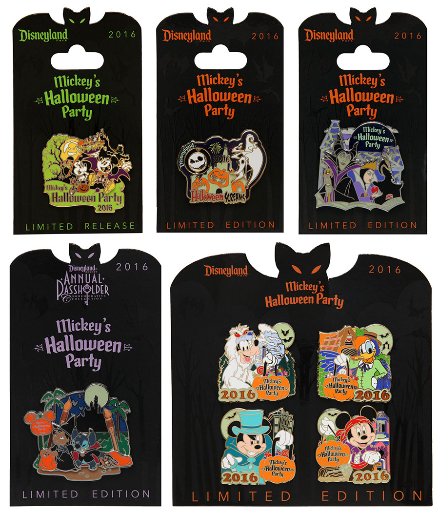 Mickeys Halloween Party Annual Passholder Pins 2020 Mickey's Halloween Party 2016 Pins   Disney Pins Blog