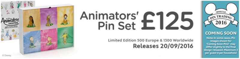 Animators' Pin Set - Disney Store UK