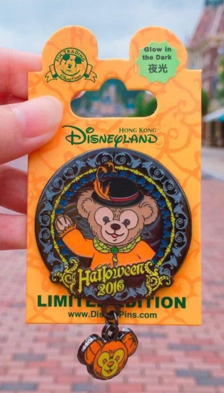 Duffy Bear Hong Kong Halloween 2016 Disney Pin.