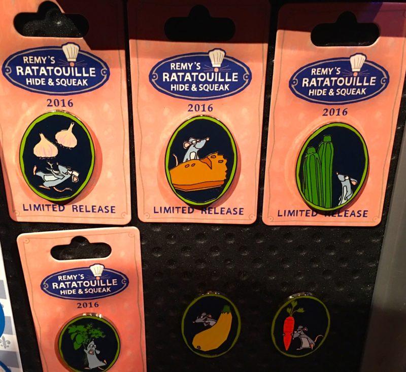 Remy's Ratatouille Hide & Squeak Pins 2016