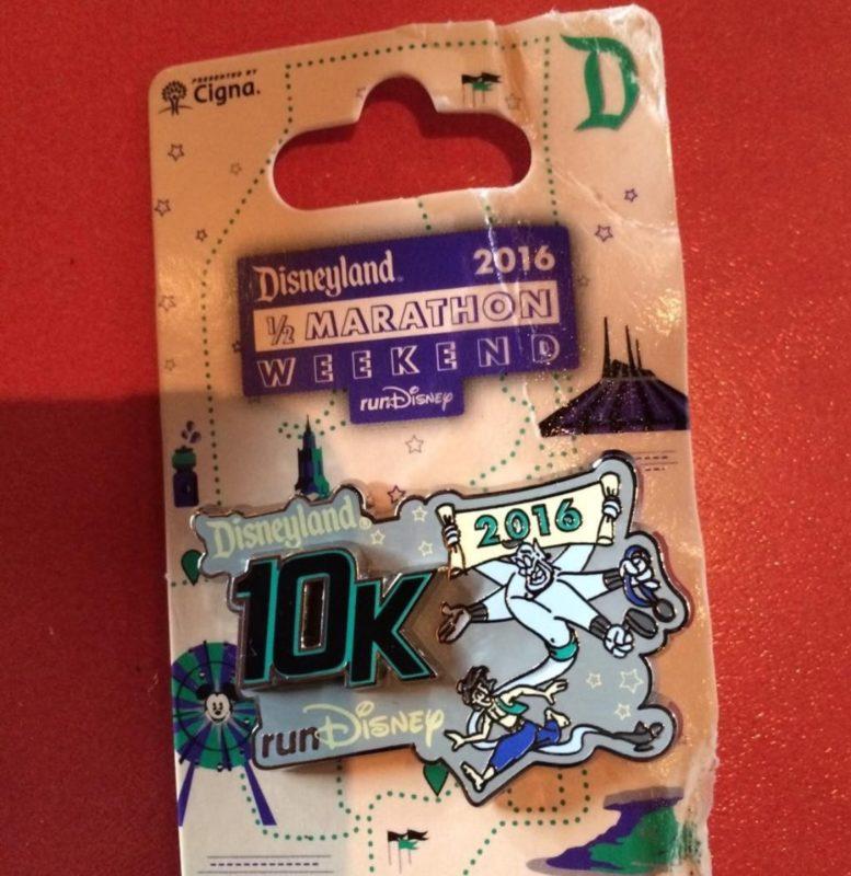 runDisney Disneyland 2016 10k Pin