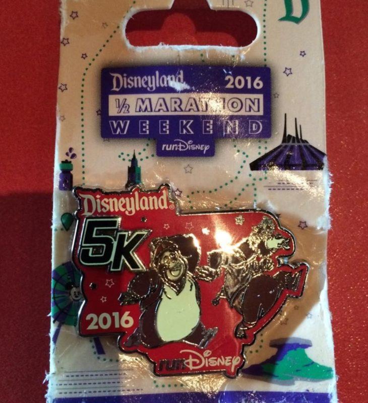 runDisney Disneyland 2016 5k Pin