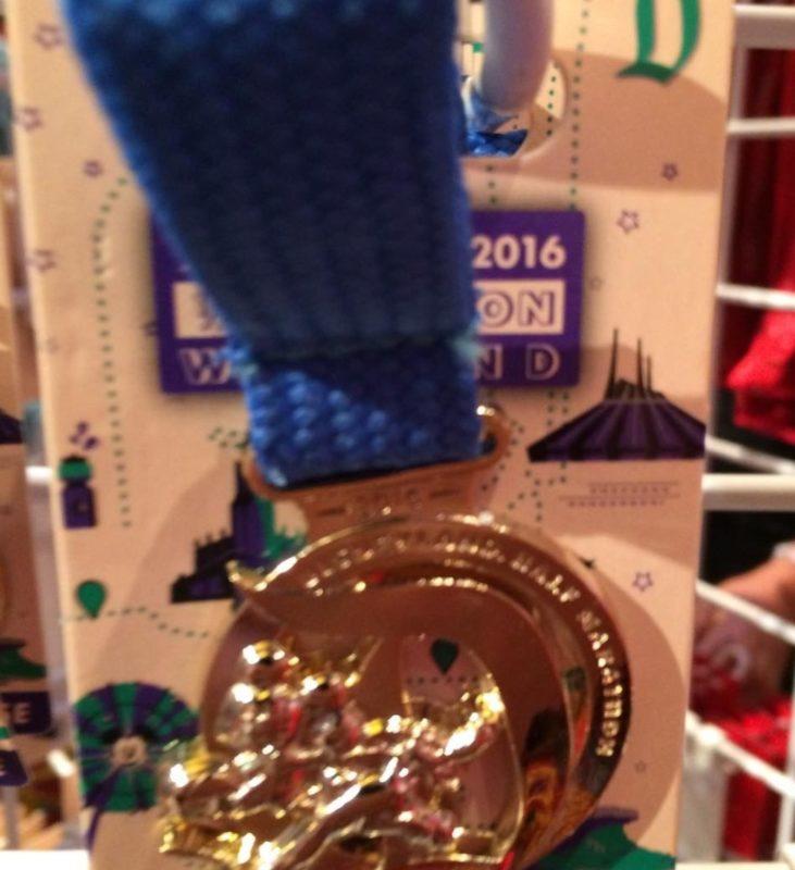 runDisney Disneyland 2016 Half Marathon Medal Pin