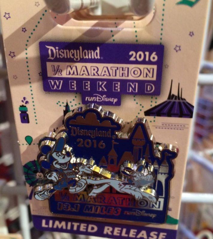 runDisney Disneyland 2016 Half Marathon Pin