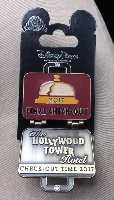 Surprise Final Check-Out Tower of Terror Pin