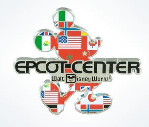 Epcot Center Mickey Flags Pin