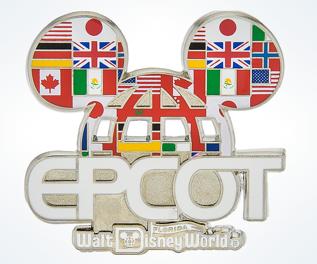 Epcot Mickey Ear Hat Pin