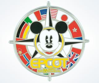 Epcot Flag Compass Pin