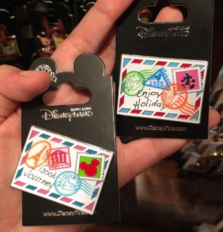 Hong Kong Disneyland Postcard Pins- Front