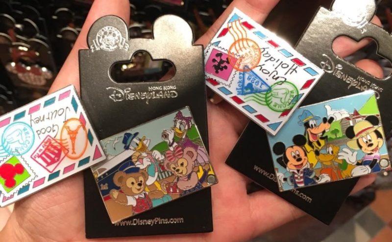 Hong Kong Disneyland Postcard Pins- Inside