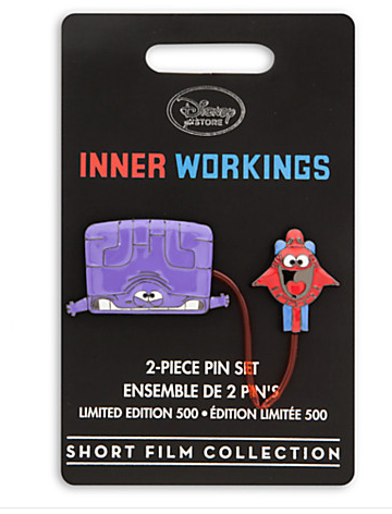 Disney Store Inner Workings Pin- On Card
