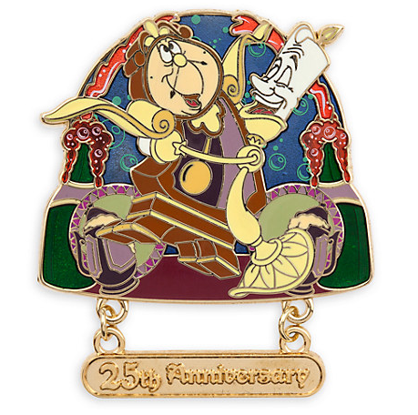 Disney Store Beauty and the Beast 25th Anniversary Pin