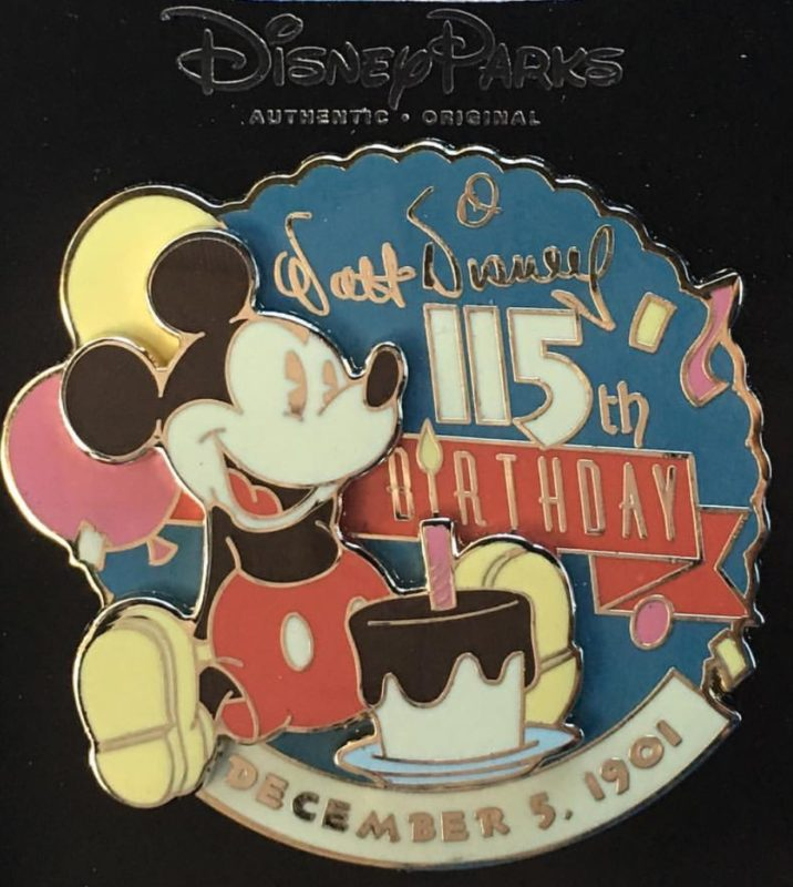 Cast Member Walt Disney S Birthday Pin Disney Pins Blog