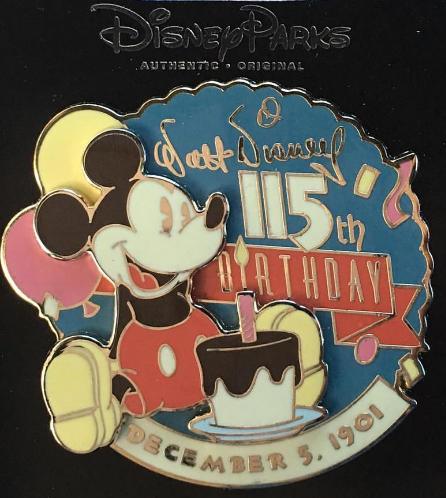 Cast Member Walt Disney's Birthday Pin
