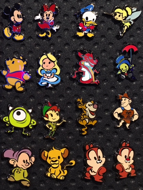 Disney Trading Pin Cute Stylized Characters Mystery