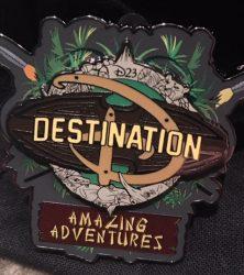 D23 Destination D: Amazing Adventures Pin