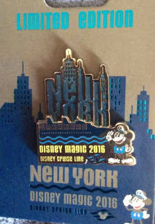 Disney Cruise Line New York 2016 Pin