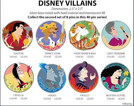 Disney Villains WDI Pins Series 2