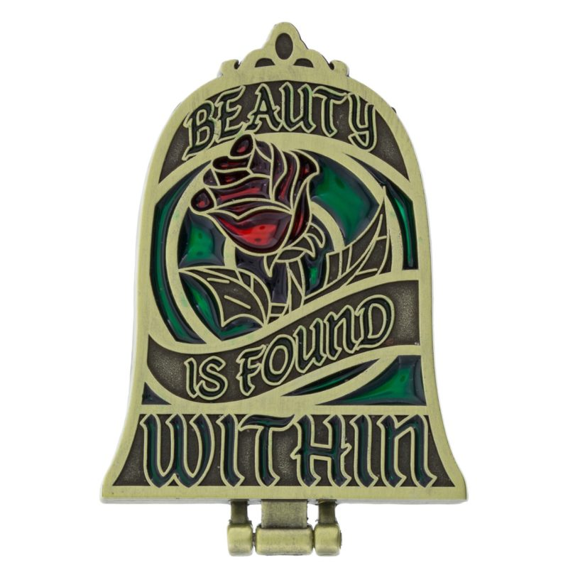 Beauty is Found Within Disney Mirror Pin