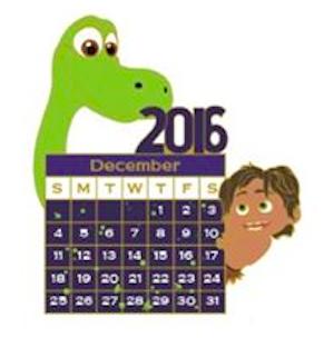 DSSH December 2016 Calendar Pin