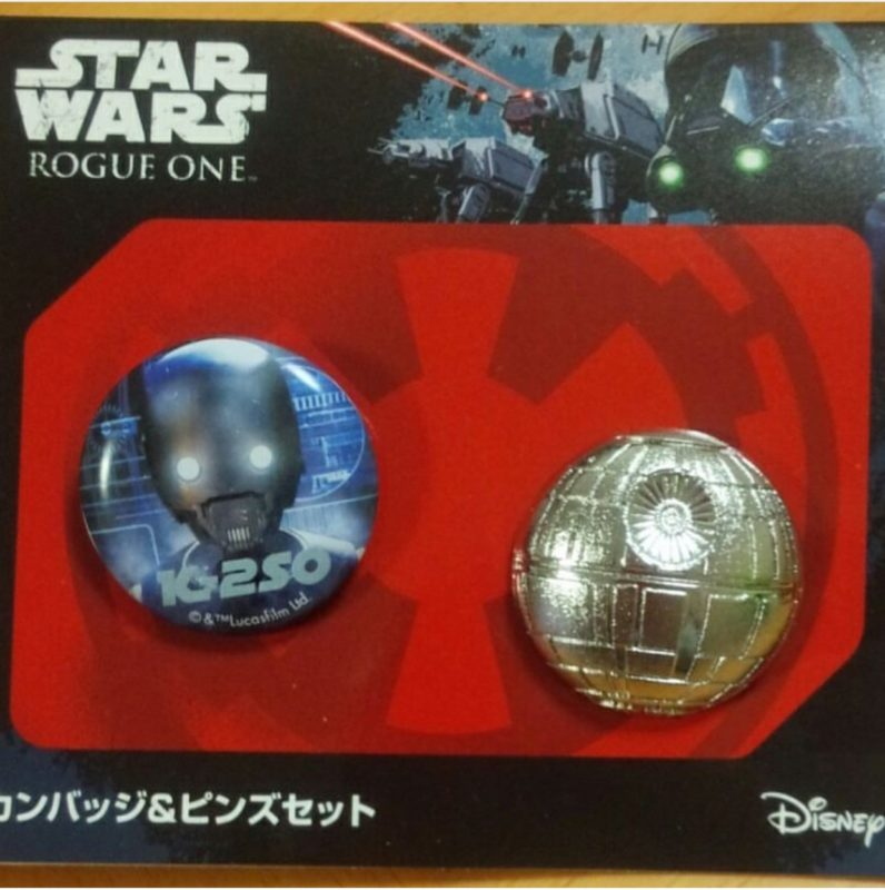 Star Wars: Rogue One Pin and Button Set- Japan Exclusive