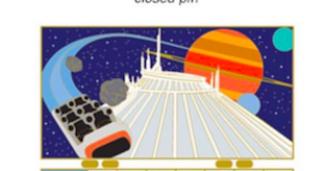 WDI 2017 Calendar Pin - Space Mountain